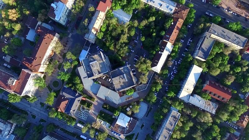 Башни - близнецы на Арбате Алматы с высоты