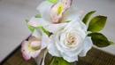 Цветы из Сахарной пасты Принцесса Орхидея и Роза в цветочной композиции Я ТОРТодел