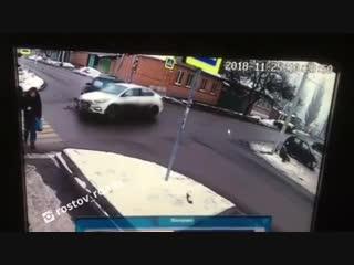 Видео ДТП с Белорусской/ Днепровский - 25.11.18 - Это Ростов-на-Дону!