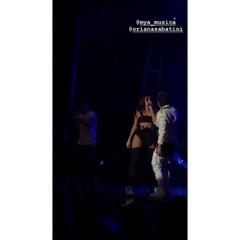 """Maxi Espindola Updates on Instagram: """"⠀⠀⠀⠀⠀⠀ 📽   ¡MYA y Oriana ayer 28/Septiembre en el LMDE Tour de Oriana en el Teatro Vorterix en Buenos Aires, ..."""
