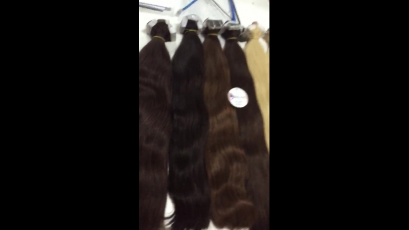Tape hair extension, straight, nice color, 24 inches