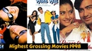20 Highest Grossing Bollywood Movies of 1998 with Box Office Collection