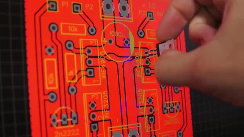 Изготовление печатных плат своими руками 1 - разводка в EasyEDA - YouTube (360p)