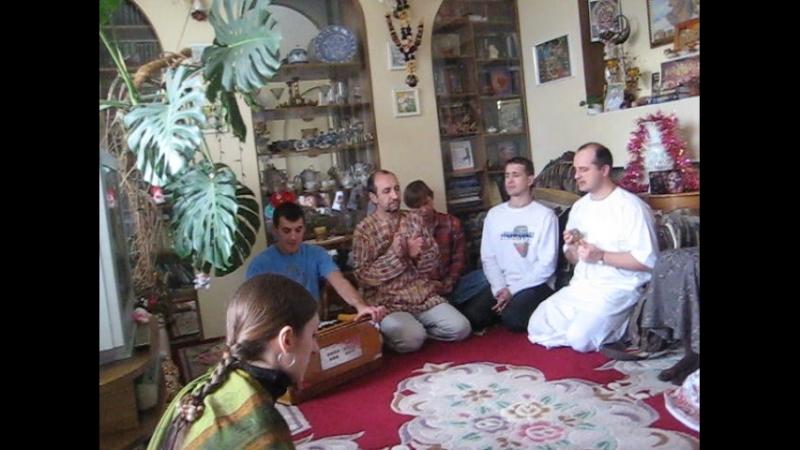 Встреча учеников Е.М.Чайтанья Чандра Чарана Прабху в 2009г ОМск***