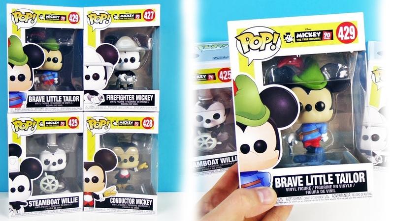 ФАНКО ПОП Дисней 90 лет Мики Маусу МУЛЬТИКИ ДИСНЕЯ Игрушки FUNKO POP Disney Mickey Mouse unboxing