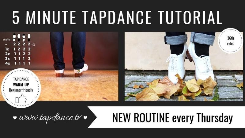 Beginner friendly Tap Dance warm-up routine - 36th video - 5 minutes