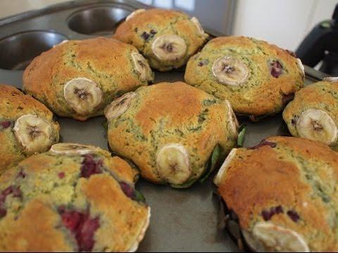 Banana Pandan And Raspberry Muffins!! Best Ever!!