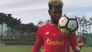 Selección en su primer entrenamiento en Corea del Sur