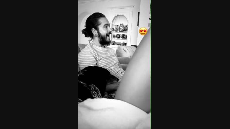 New video of Tom - - tokiohotel tomkaulitz heidiklum (3)