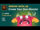 Design with Us Create Your Own Monster in Adobe illustrator