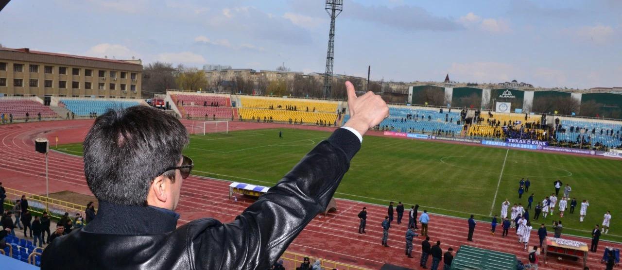 Шымкент қаласының әкімі Ғабидулла Абдурахимов матчқа қарапайым жанкүйер ретінде келді
