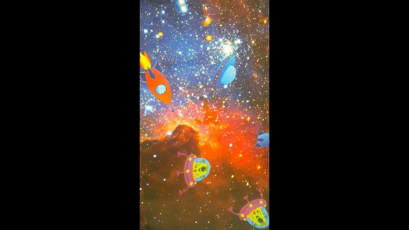 Футер 2 х нитка Том и Джерри в космосе
