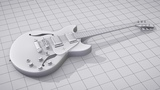 CGC Classic Modeling and Texturing an Electric Guitar - Pt 3 (Blender 2.6)