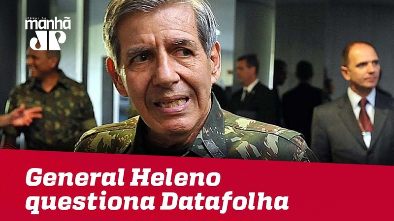 General Heleno questiona Datafolha e reforça apoio a Bolsonaro