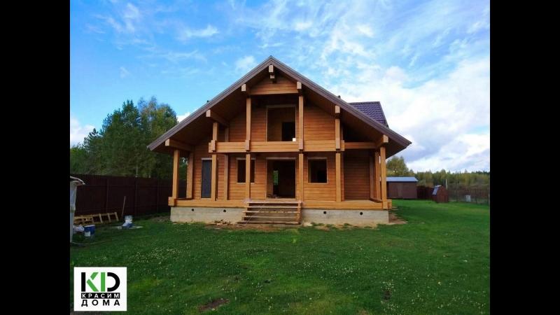 Красим Дома - покраска деревянного дома краской Renner.