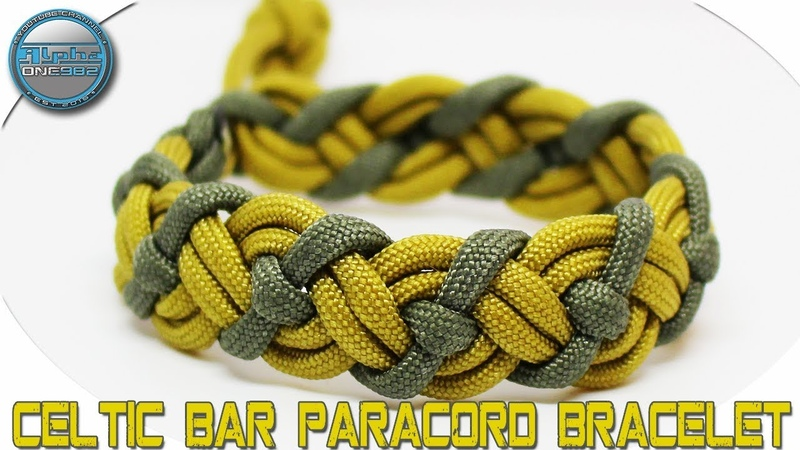 How to Make a Paracord Bracelet Celtic Bar VIKING DIY Tutorial Bonus Diamond Crown Knot