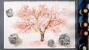 Cherry Tree Aluminium Foil Painting Technique for Beginners   Easy Creative Idea