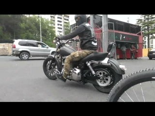 Honda Shadow Мой велик EXTE Harley-Davidson и Yamaha Dragstar в стиле bobber