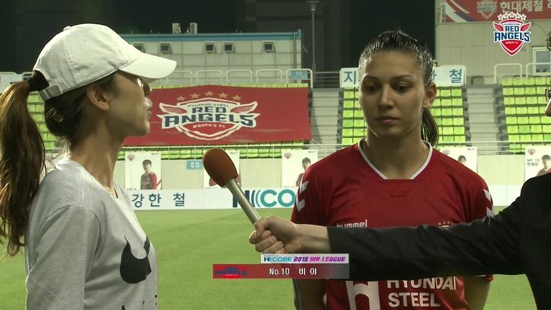 경기후 승장 최인철 감독과 비아의 인터뷰 : 인천현대제철 vs 창녕WFC : 현대제철 H CO