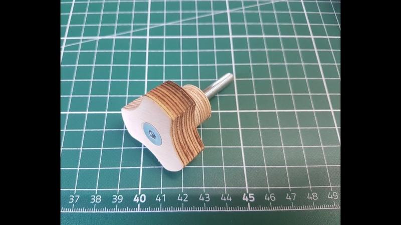 Holzknöpfe / Holzgriffe selber machen / Vorrichtung / grip wooden knob jig Huxxa