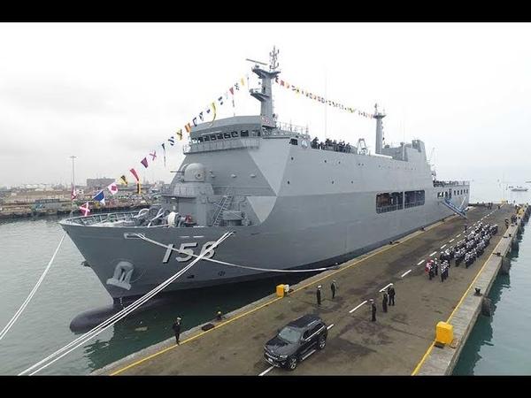 El imponente B A P Pisco de la Marina de Guerra del Perú