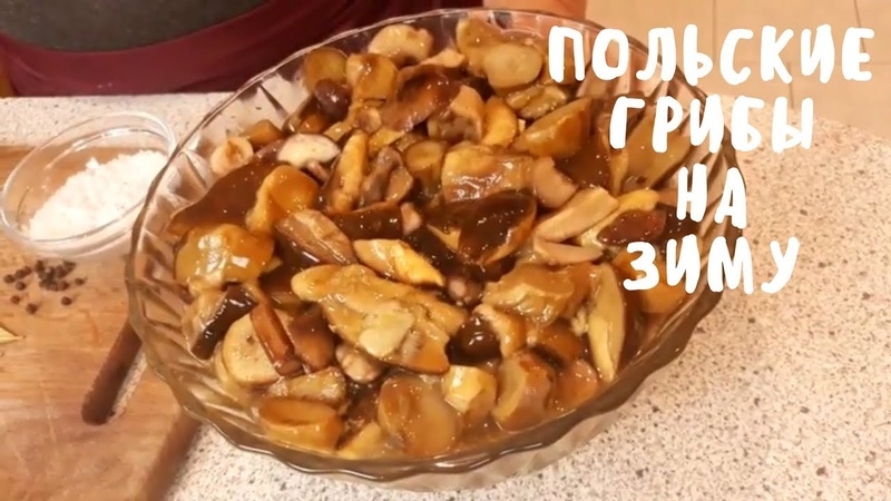 Солим польские грибы на зиму. Заготовки на зиму. Мой опыт.