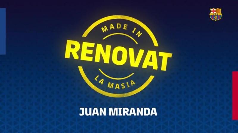 ÚLTIMA HORA - Juan Miranda renova amb el Barça fins el 2021, ampliable a dos anys més, i