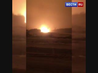 Горящий в Подмосковье газопровод сняли на видео.