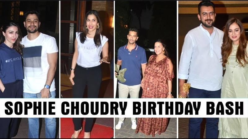 Bollywood Stars At Sophie Choudry's Birthday Bash Neha Dhupia Dia Mirza