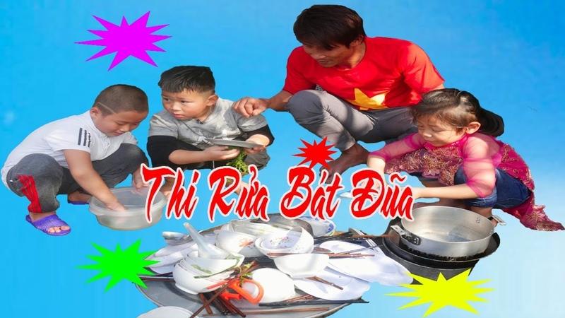Trò chơi bé con ❤ tập rửa và học nấu ăn ❤ bạch vân tv