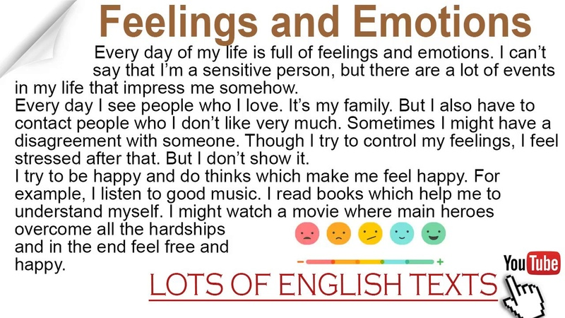 Feelings and Emotions | Lots of English Texts with Audio