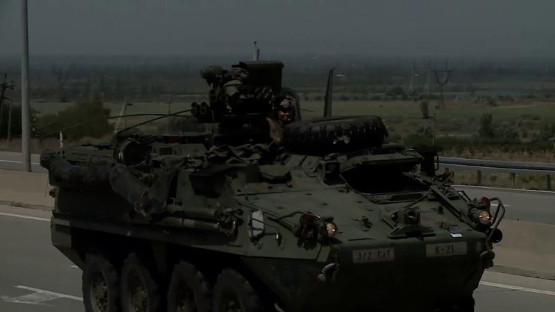 Войска США заходят в Гори Грузия US troops entered Gori Georgia