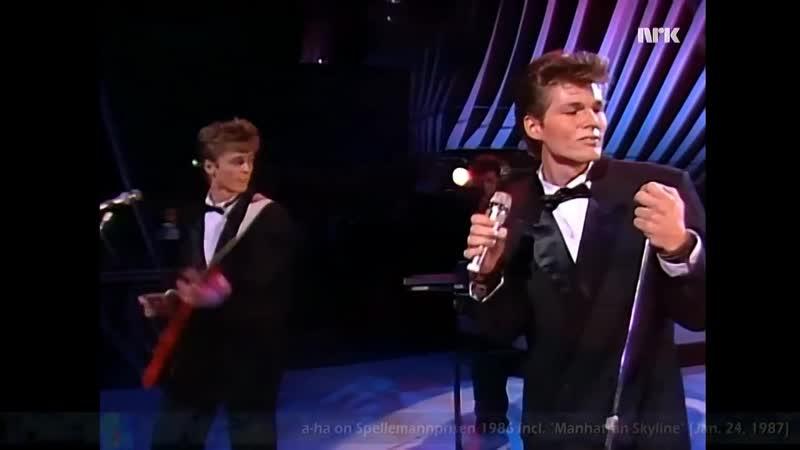 A-ha on Spellemannprisen 86 - Manhattan Skyline [24 января 1987 ⁄ HD]