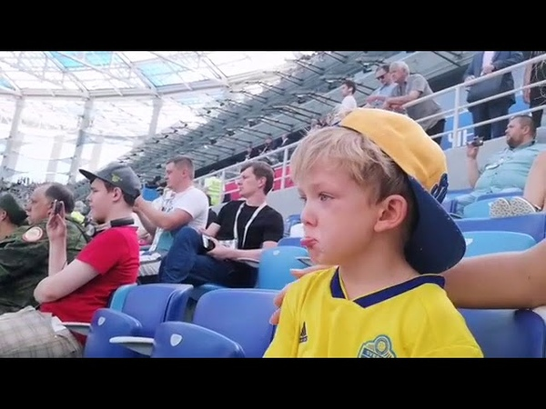 Sweden star Marcus Berg's son in tears as dad makes World Cup debut