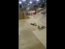 Wallride fail BMX crash