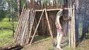 Unusually long day harvesting of wood nettle fiber