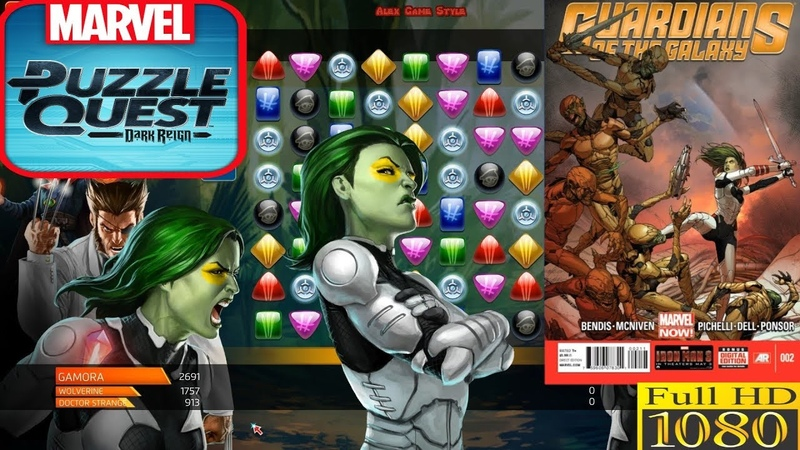 Gamora (Rare) Guardians of the Galaxy - Super abilities - Marvel Puzzle Quest - Heroes in Games