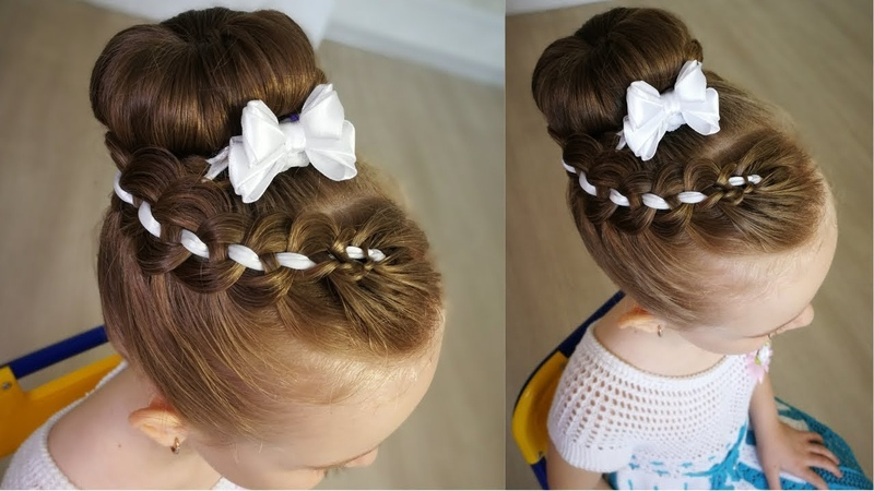 Dance hair. Good-looking hairstyle for girls. - Прическа на танцы.
