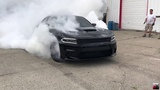 Hellcat Charger Pops Tires burning them to the WIRES!!!