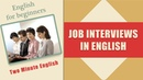 Job Interviews in English Language - English Phrases for Job Interview - Job Interview Conversations