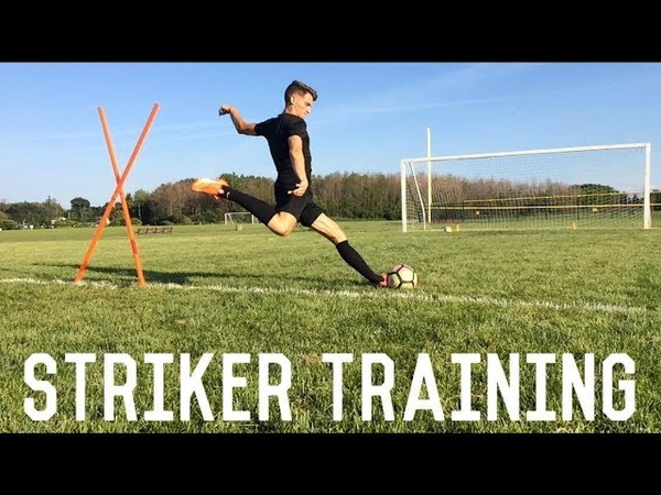 Striker Training | Shield, Turn and Shoot | Individual Training Drill For Footballers/Soccer Players