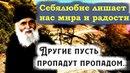 Себялюбие лишает нас мира и радости Преп Паисий Святогорец