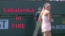 Sabalenka in FIRE / Sabalenka vs Kuznetsova Highlights / BNP Paribas Open 2018 / Round of 64