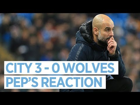 Pep Guardiola reaction Man City v Wolves | PRESS CONFERENCE