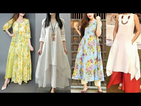 Latest Daily Wear Cotton Frock and Plazo/Palazo designs | New Daily Wear Frock and Palazo designs