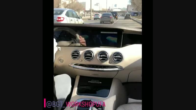 S63 AMG 2018 установили систему андроид