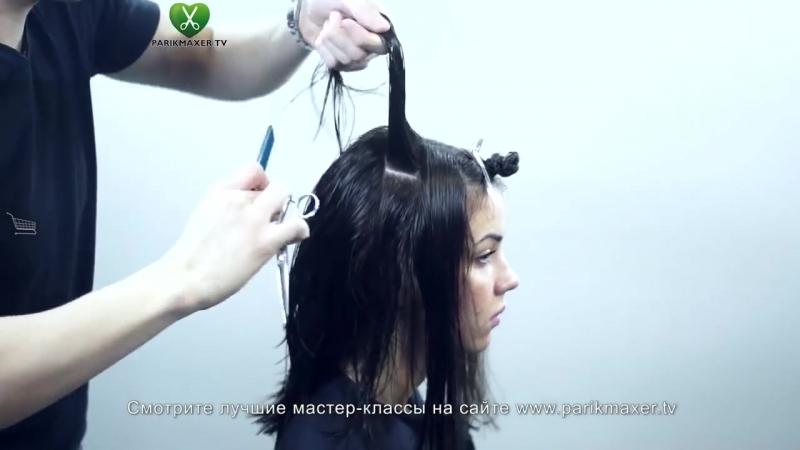 Текстурированная стрижка длинных волос. Парикмахер тв