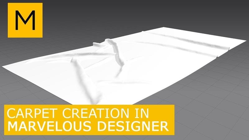 Floor Rug (carpet) model in Marvelous Designer export 3Ds Max with UVs | Tutorials for beginners