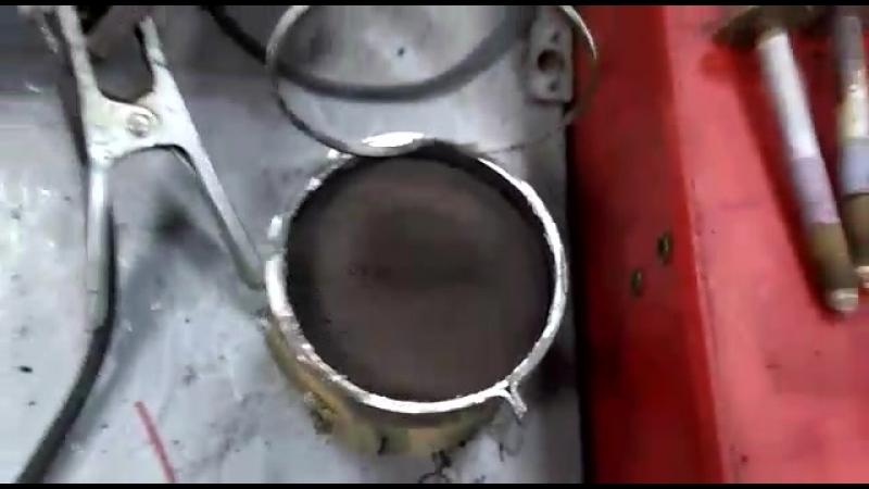 Замена катализатора на пламегаситель, мазда 6