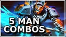 Smite Best of 5 Man Combos